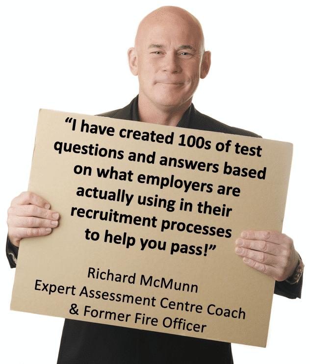 Expert assessment centre coach Richard McMunn