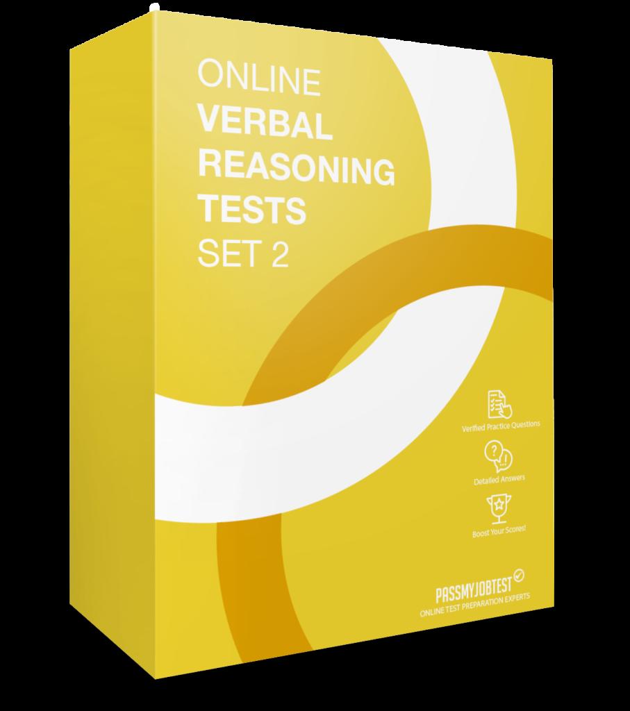 Online Verbal Reasoning Test Questions Set 2