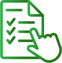 Practice test questions icon