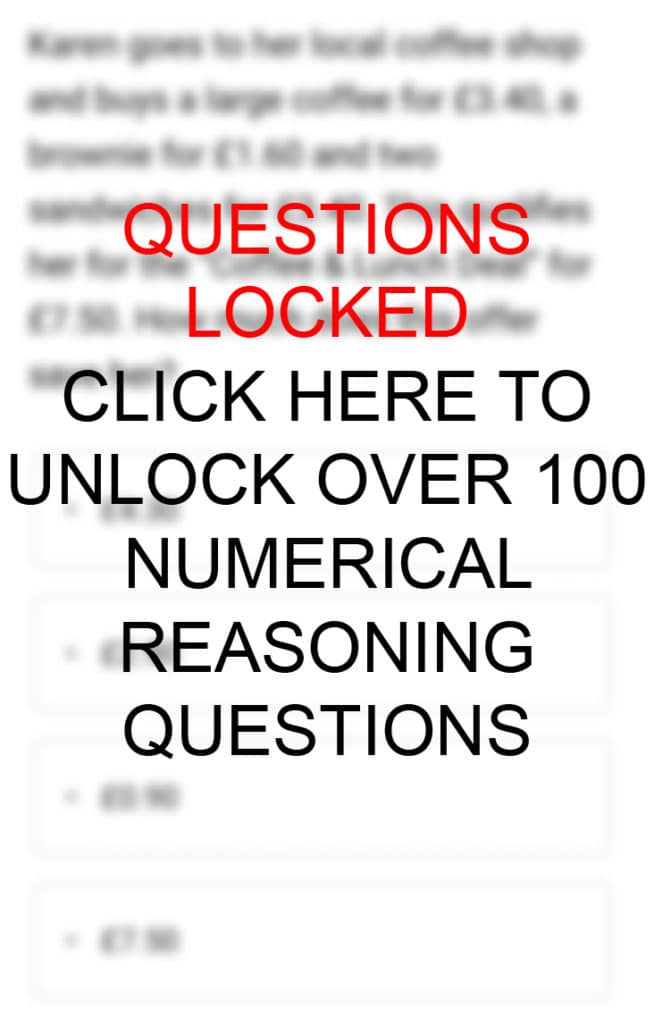 Text-Based Numerical Reasoning Practice Questions and Answers Mobile